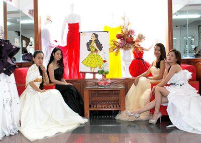 Đồ án thiết kế trang phục Dạ hội Đầm cưới của học viên khóa học Thiết kế thời trang