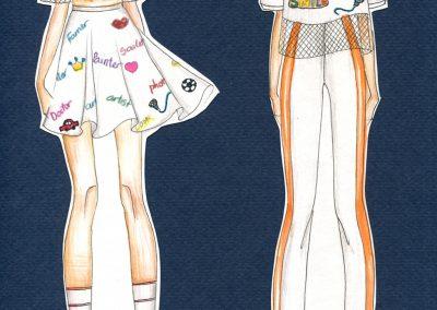 Mẫu phác thảo thiết kế thời trang