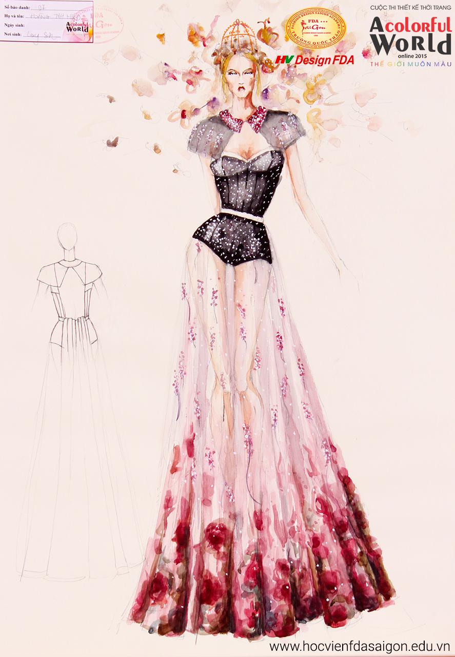 Bài thi thiết kế thời trang của Hoàng Thị Hiệp đạt giải Khuyến Khích