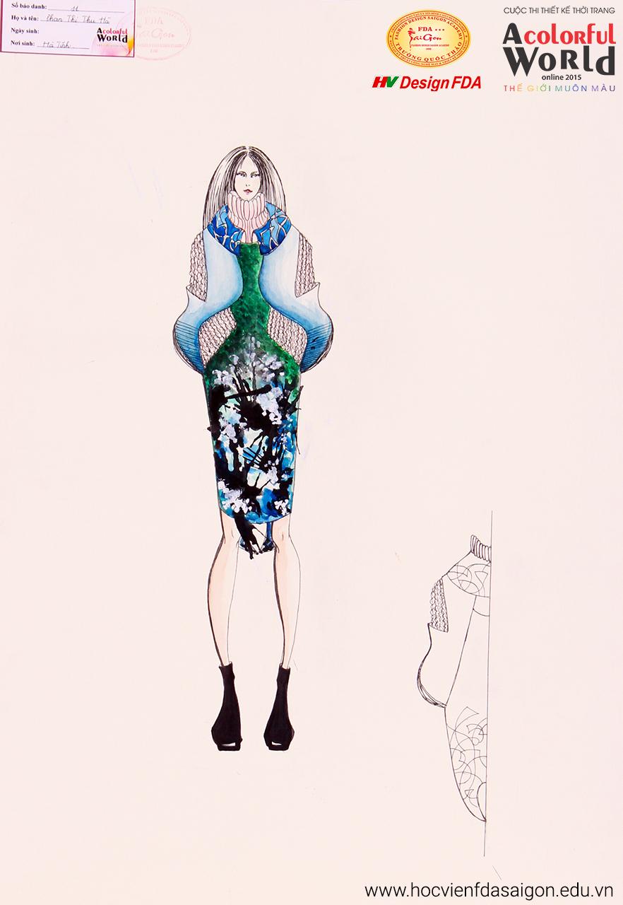 Bài thi thiết kế thời trang của Phan Thị Thu Hà đạt giải Khuyến Khích