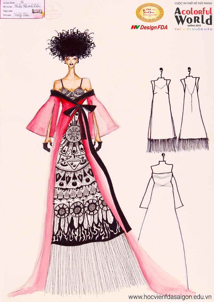 Bài thi thiết kế thời trang của Trần Thanh Lâm đạt giải Khuyến Khích