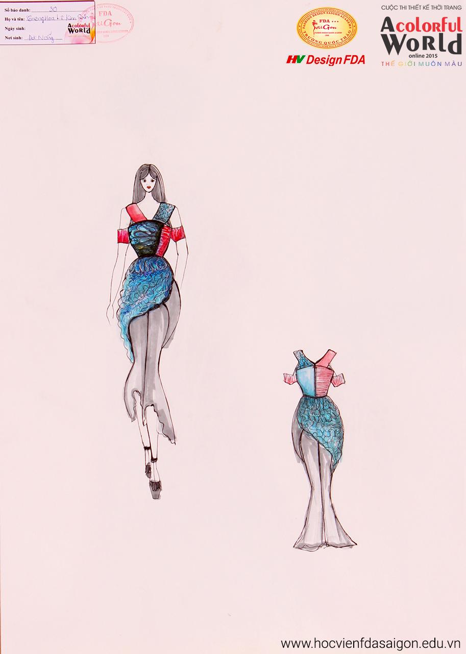 Bài thi thiết kế thời trang của Trương Hoa Lê Kim Sinh