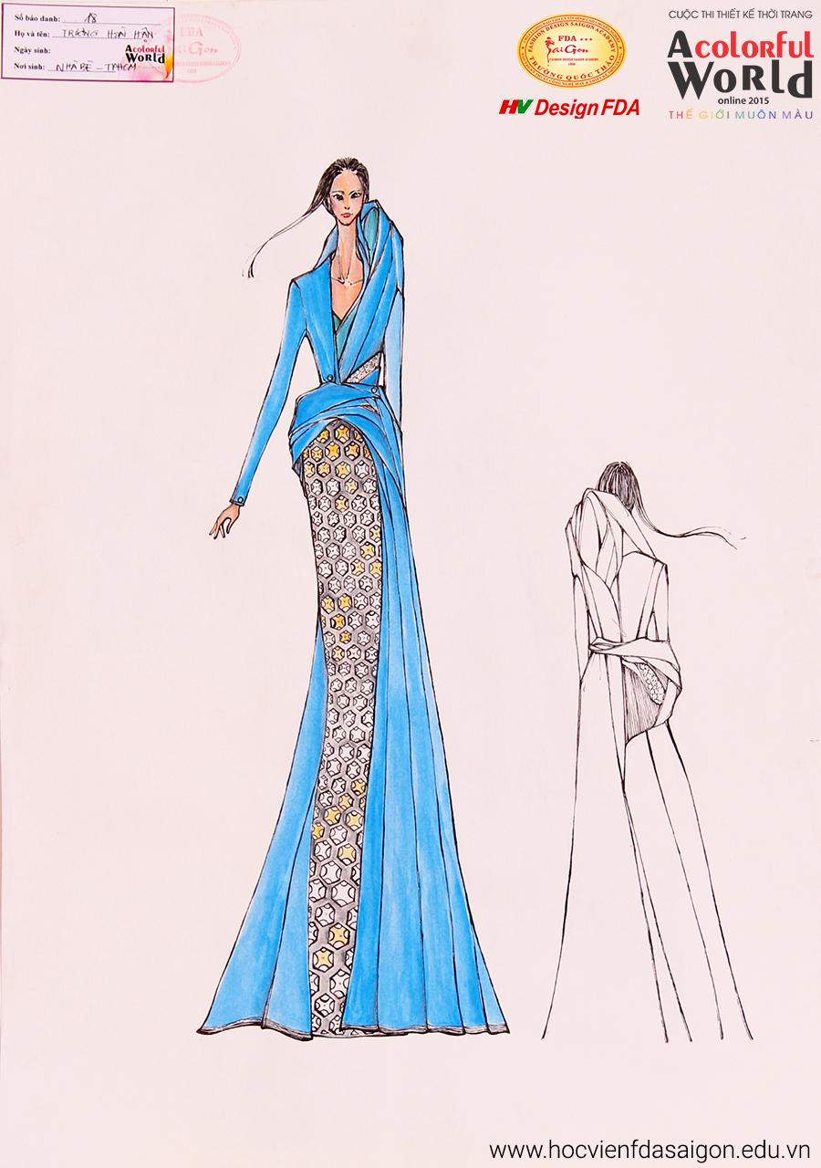 Bài thi thiết kế thời trang của Trương Hoài Hận đạt giải Khuyến Khích