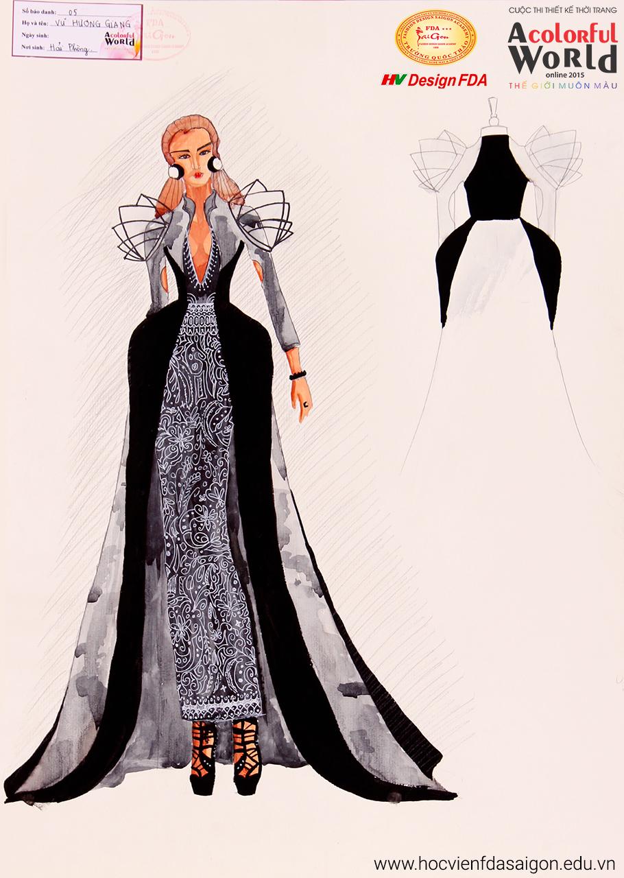 Bài thi thiết kế thời trang của Vũ Hương Giang