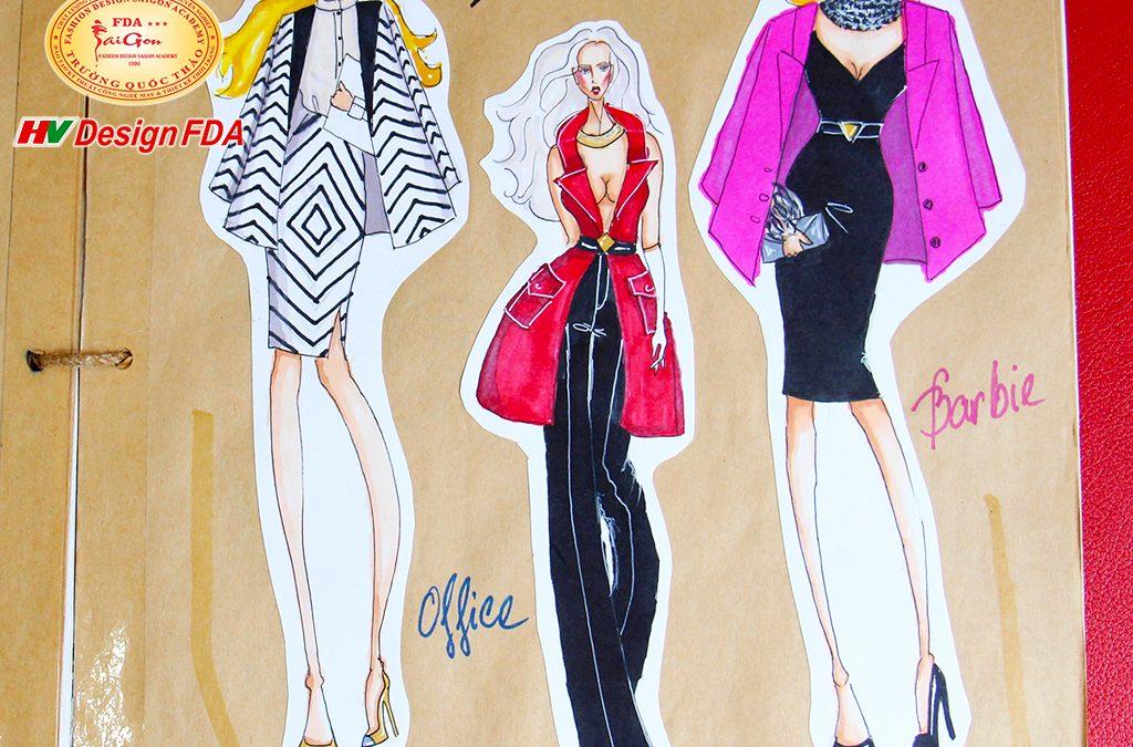 Phát triển ý tưởng thiết kế thời trang từ Búp bê Barbie