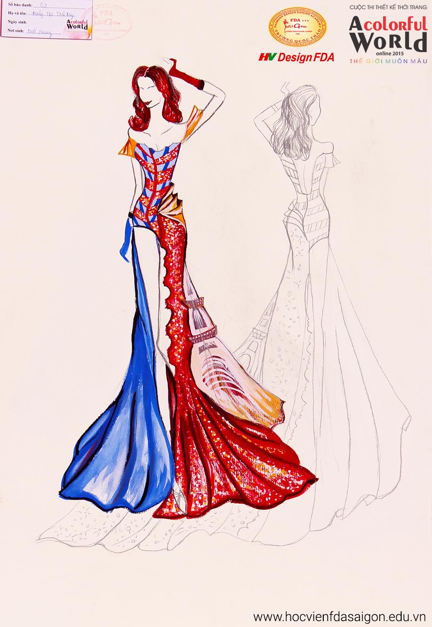 Bài thi thiết kế thời trang của Đặng Thị Trà My