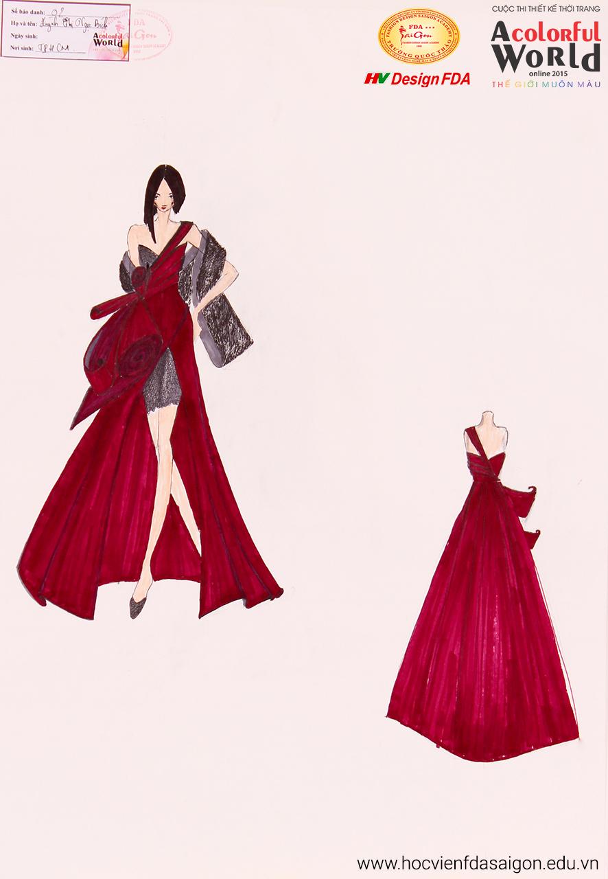 Bài thi thiết kế thời trang của Huỳnh Thị Ngọc Bích