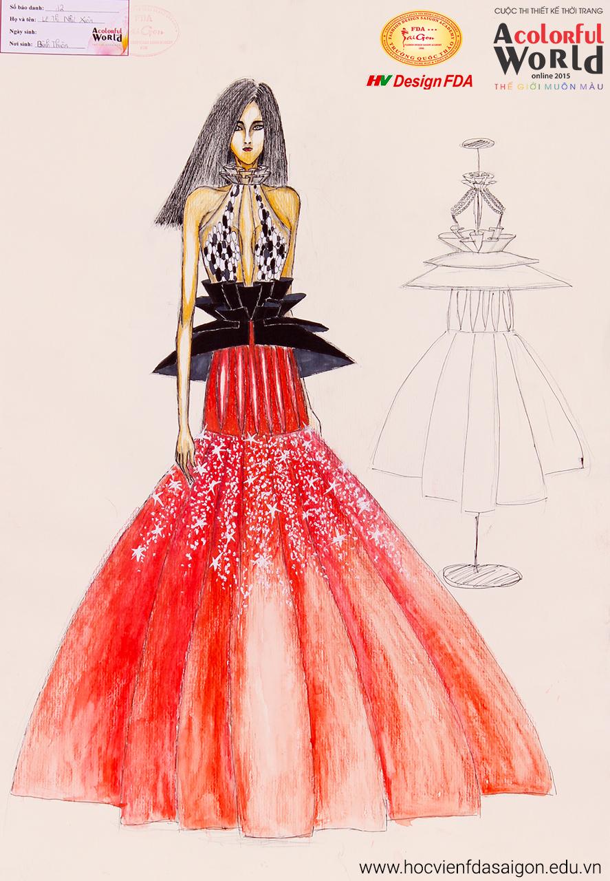 Bài thi thiết kế thời trang của Lê Thị Như Xuân