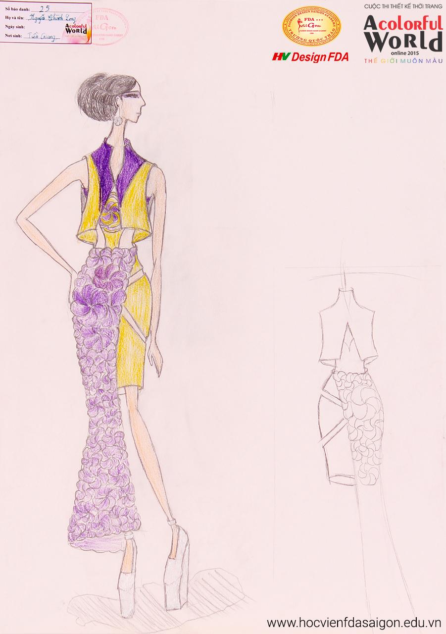 Bài thi thiết kế thời trang của Nguyễn Thành Long