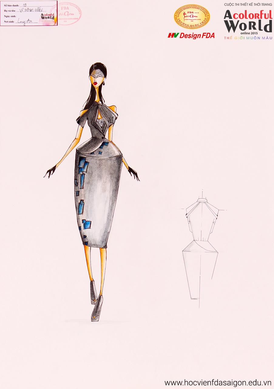 Bài thi thiết kế thời trang của Võ Minh Hiếu