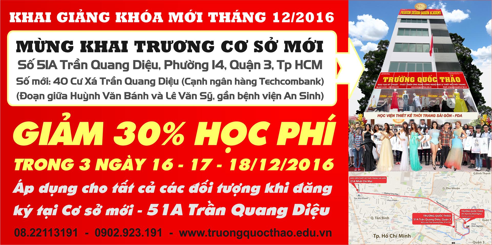 Cơ sở mới 51A Trần Quang Diệu - Quận 3