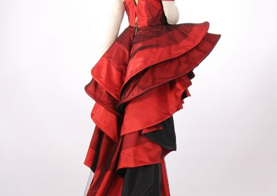 Haute couture fashion draping