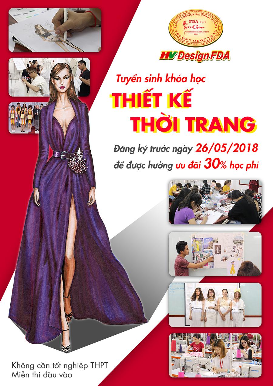 Khóa học Thiết kế thời trang Tháng 05/2018