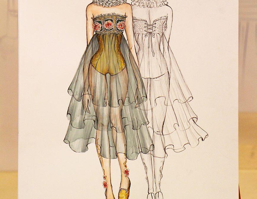 Bản vẽ phác thảo thiết kế thời trang chung kết Cuộc Thi Thiết Kế Thời Trang Online 2017 – Phần 1