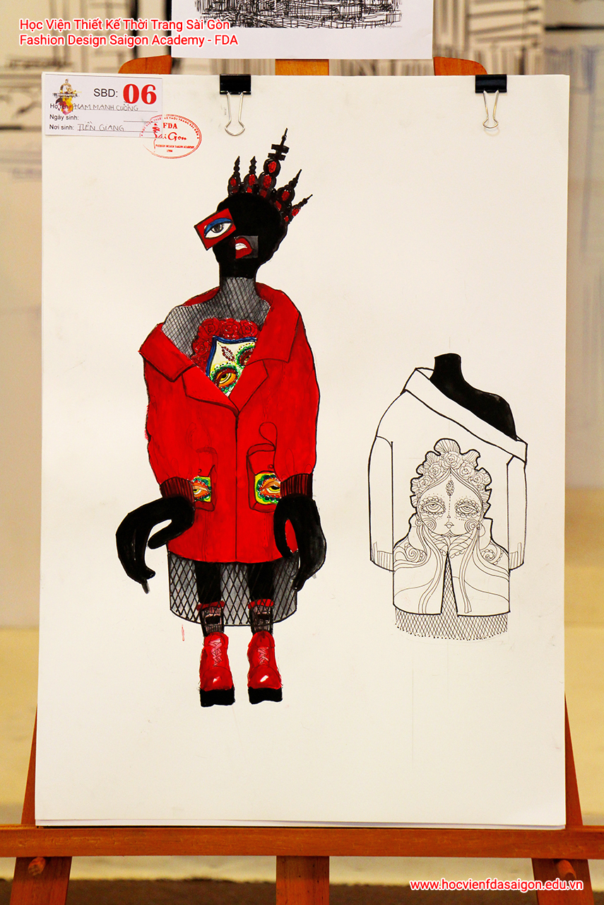 Bản vẽ phác thảo thời trang của thí sinh Phạm Mạnh Cường đến từ Tiền Giang - Giải Khuyến Khích