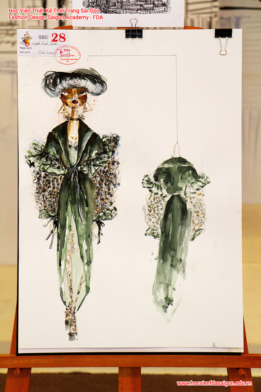 Bản vẽ phác thảo thời trang của thí sinh Nguyễn Đình Thuận đến từ Bình Thạnh, TP HCM - Giải Khuyến Khích