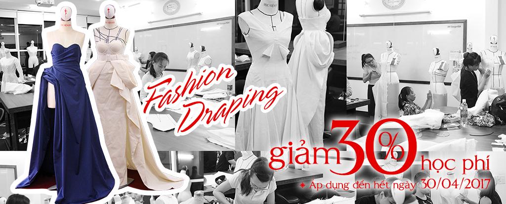 Thiết kế rập 3d trên manocanh Fashion draping