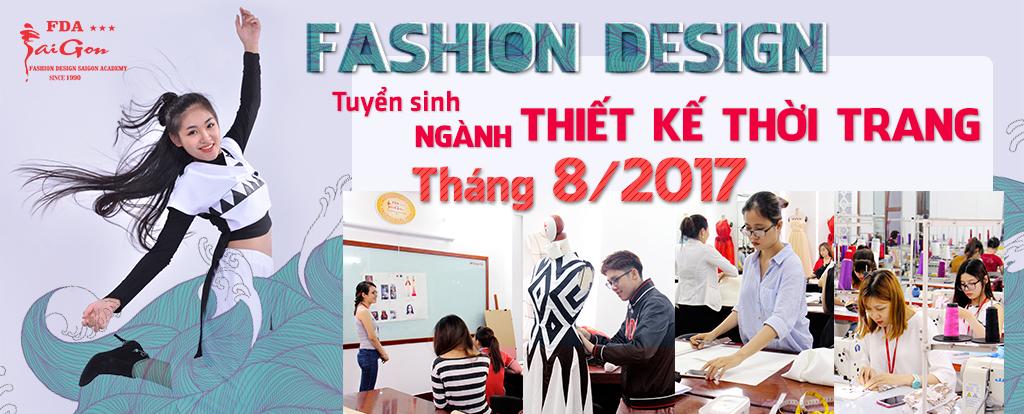 Tuyển sinh ngành thiết kế thời trang tháng 8 2017