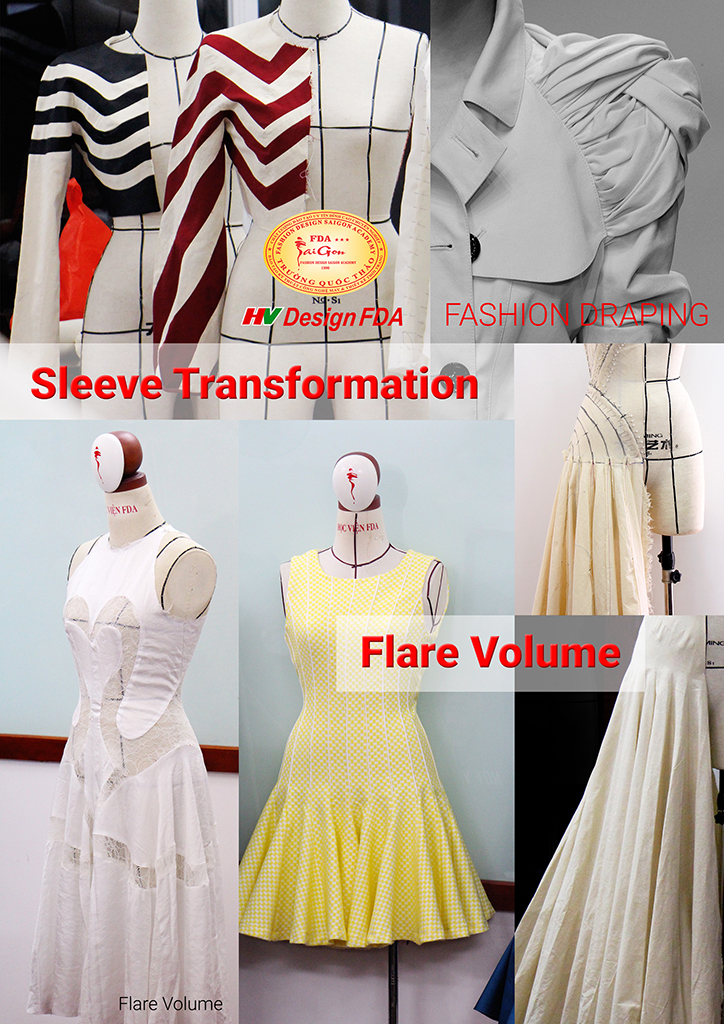Sleeve Transformation và Flare Volume Draping