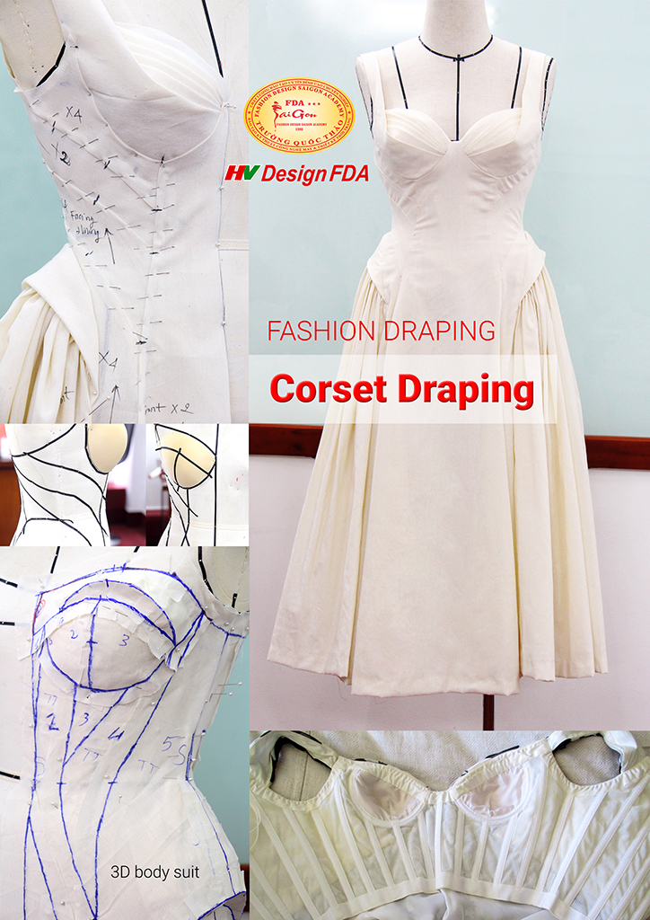 Corset draping fashion