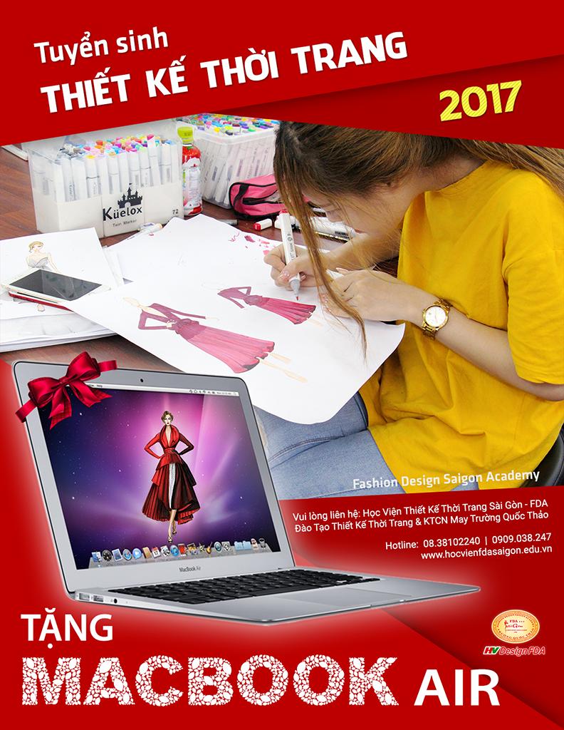Tuyển sinh thiết kế thời trang 2017 tặng Macbook