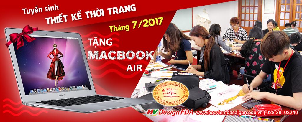 Tuyển sinh ngành Thiết kế thời trang tháng 7/2017 TẶNG MACBOOK AIR