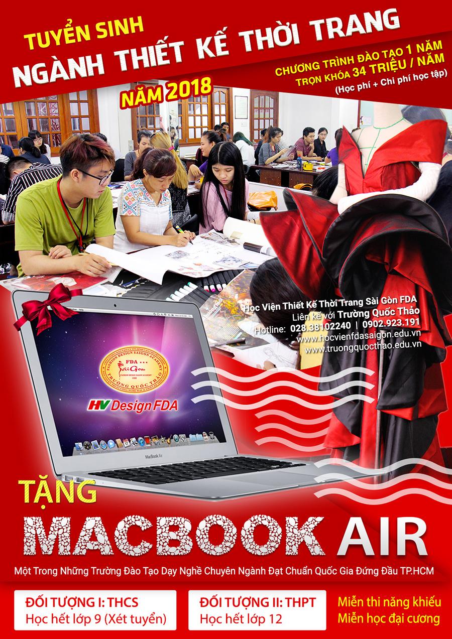 Xét tuyển ngành thiết kế thời trang Tháng 9/2017 tặng Macbook Air