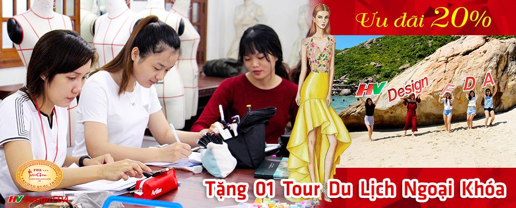 Ưu đãi 20% khóa học Thiết kế thời trang tháng 12 + tour du lịch ngoại khóa