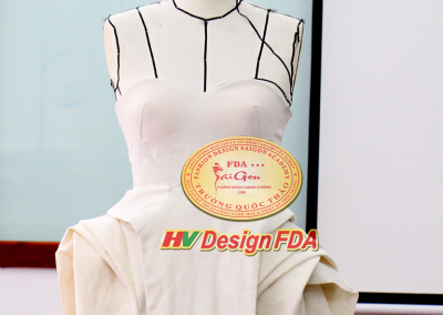 Fashion draping dress