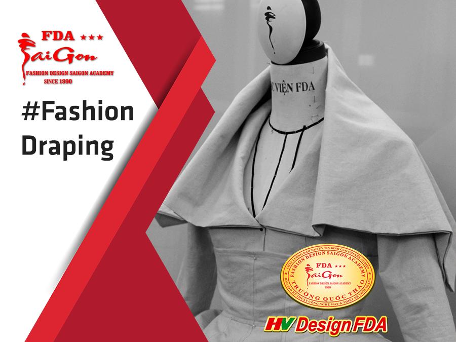 Draping thiết kế đầm thời trang trên manocanh