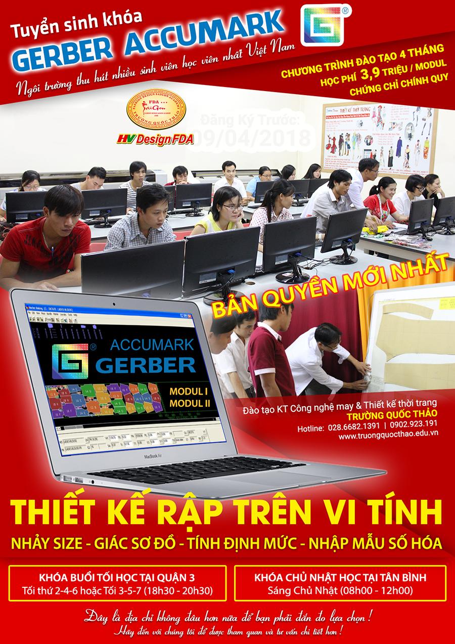 Khóa học phần mềm Gerber Accumark bản quyền mới nhất