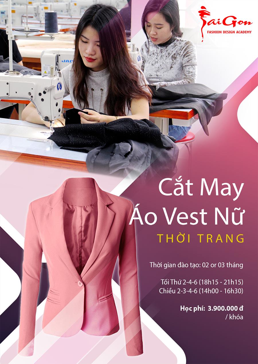 Dạy cắt may Vest nữ thời trang cao cấp