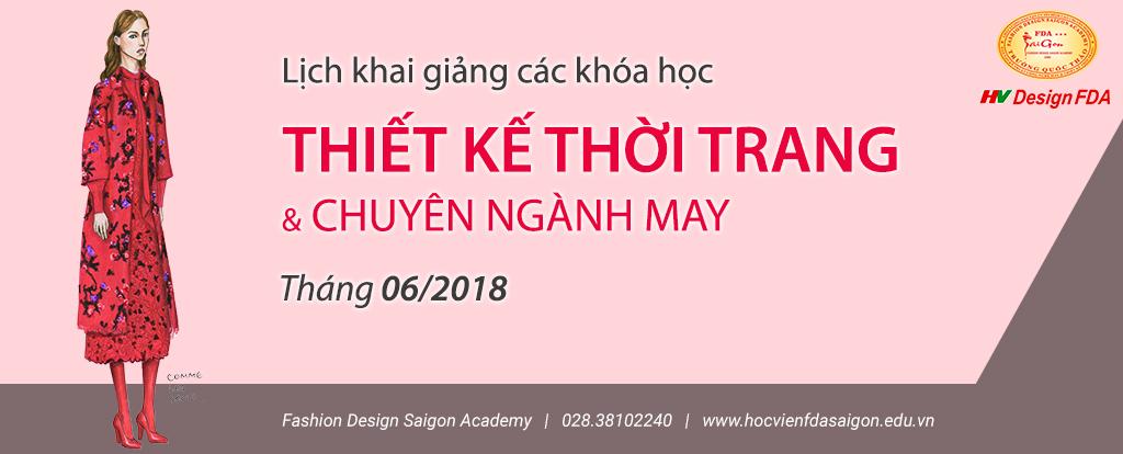 Khóa học thiết kế thời trang tháng 6/2018