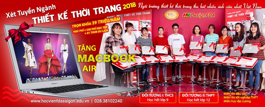 Tuyển sinh Ngành thiết kế thời trang 2018 Tặng Macbook Air