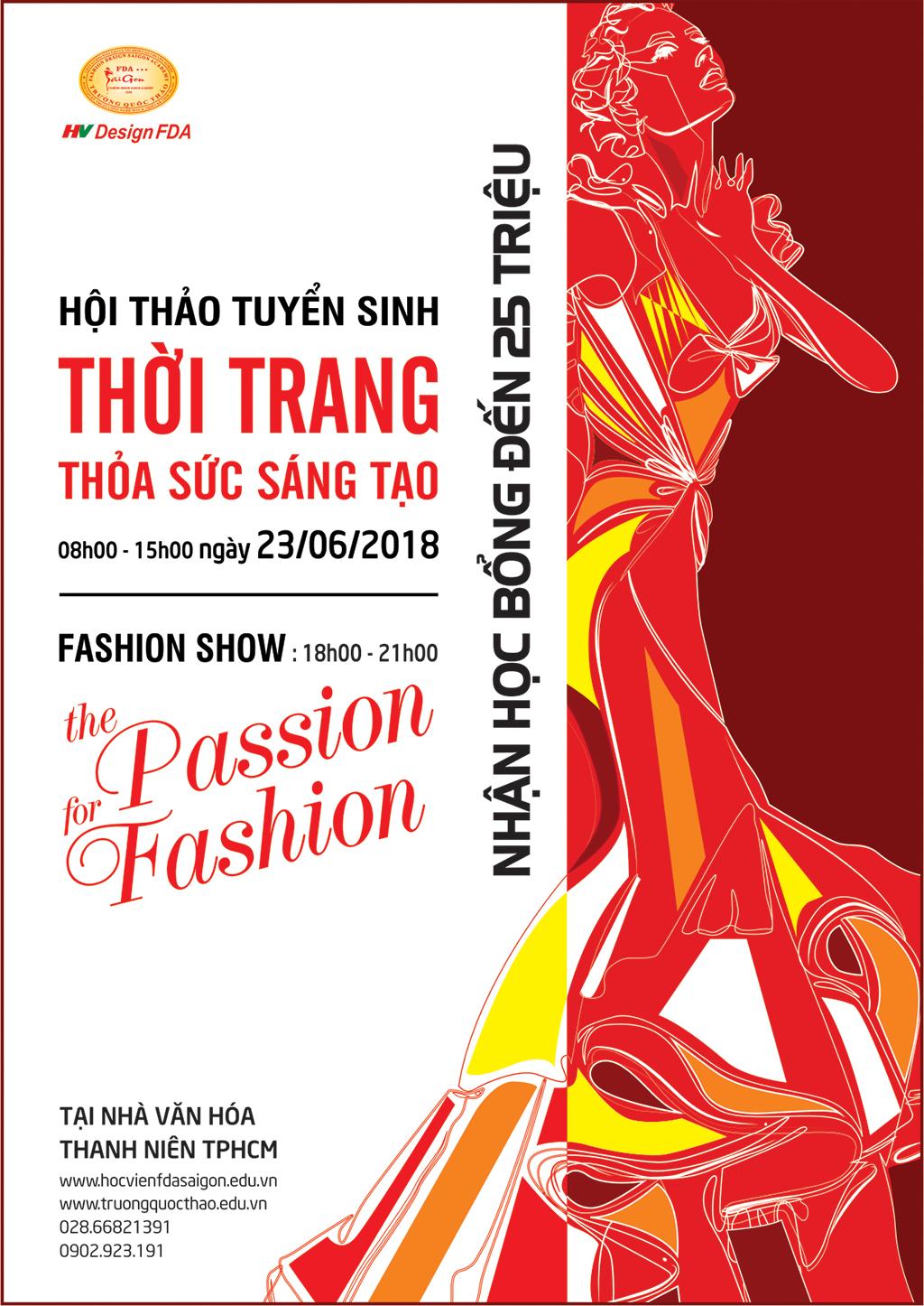 Hội thảo tuyển sinh thời trang thỏa sức sáng tạo