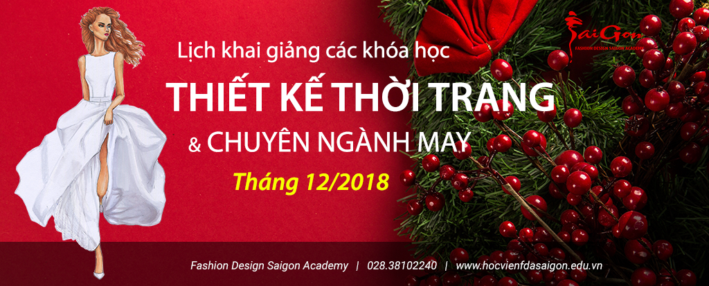 Học ngành thiết kế thời trang và ngành may mặc tháng 12-2018