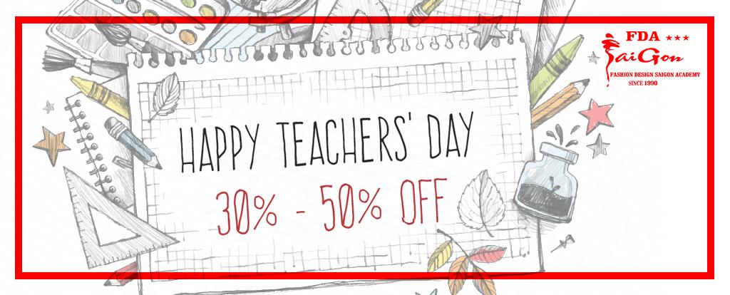Happy Teacher Day! Ưu Đãi 30-50% Nhân Ngày Nhà Giáo Việt Nam 20-11-2018