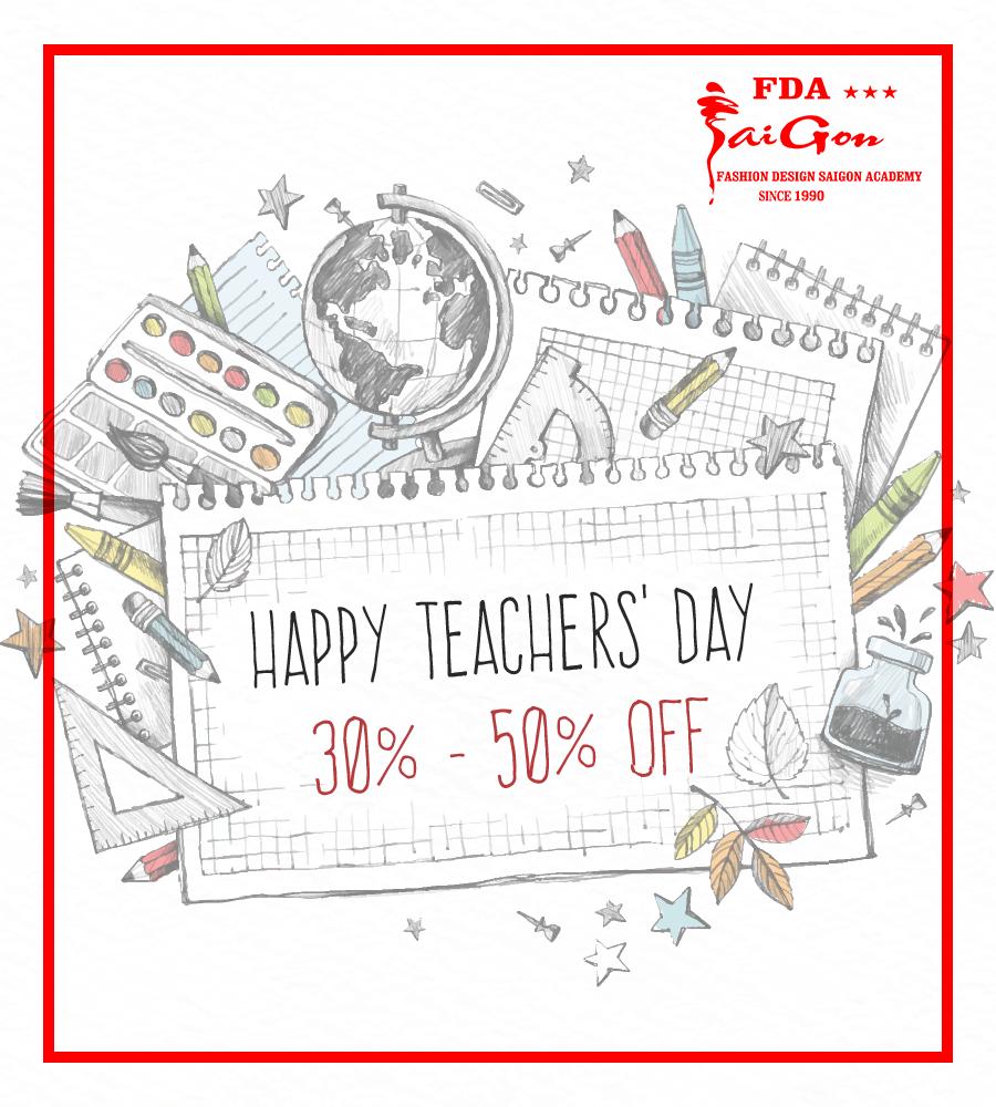 Happy Teacher Day! Ưu Đãi 30-50% Nhân Ngày Nhà Giáo Việt Nam 20-11