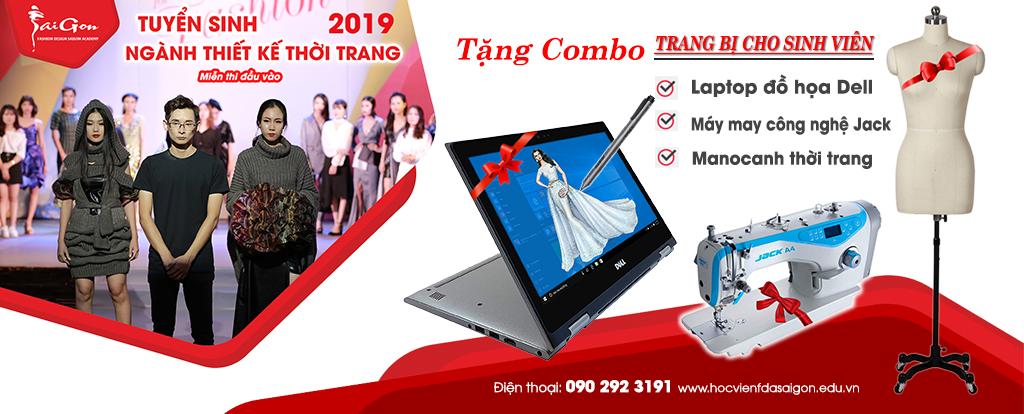 Tuyển Sinh 2019 Chuyên Ngành Thiết Kế Thời Trang Tặng Combo (Laptop + Máy May + Manocanh)