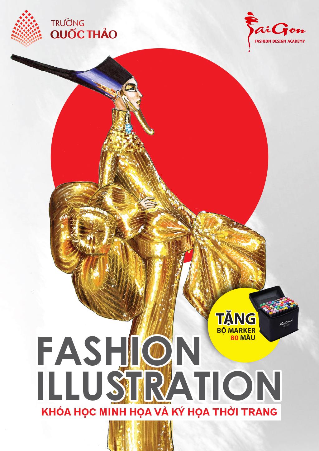 Khóa học vẽ minh họa thời trang Fashion illustration