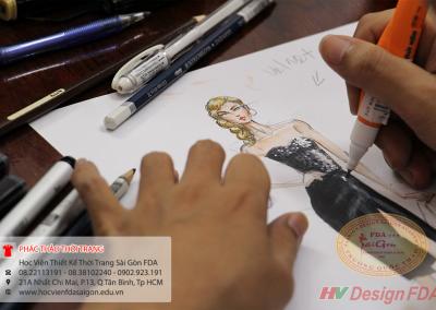 Học vẽ phác thảo thời trang