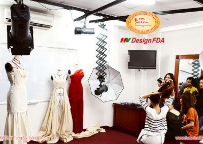 Phòng studio chụp ảnh thời trang tại Học viện FDA