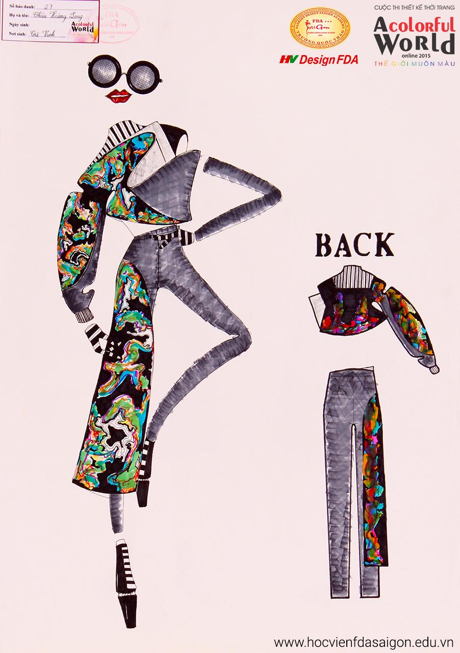 Bài thi thiết kế thời trang của Châu Hoàng Long đạt giải Khuyến Khích