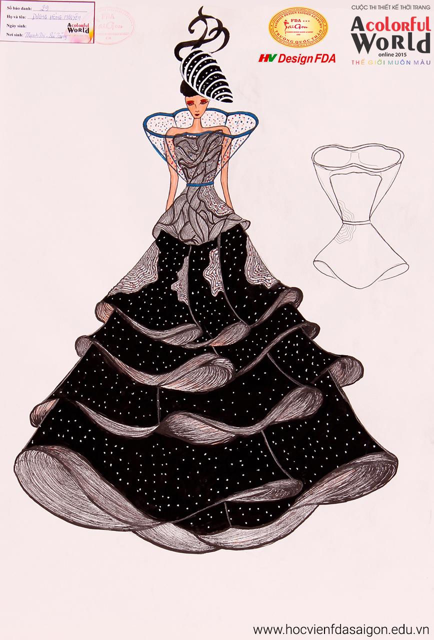 Bài thi thiết kế thời trang của Dương Hồng Nguyên