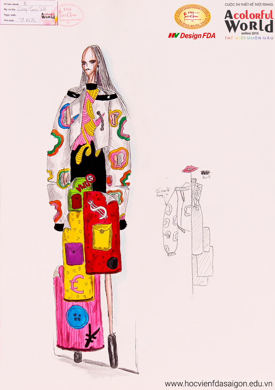 Bài thi thiết kế thời trang của Dương Trọng Đức