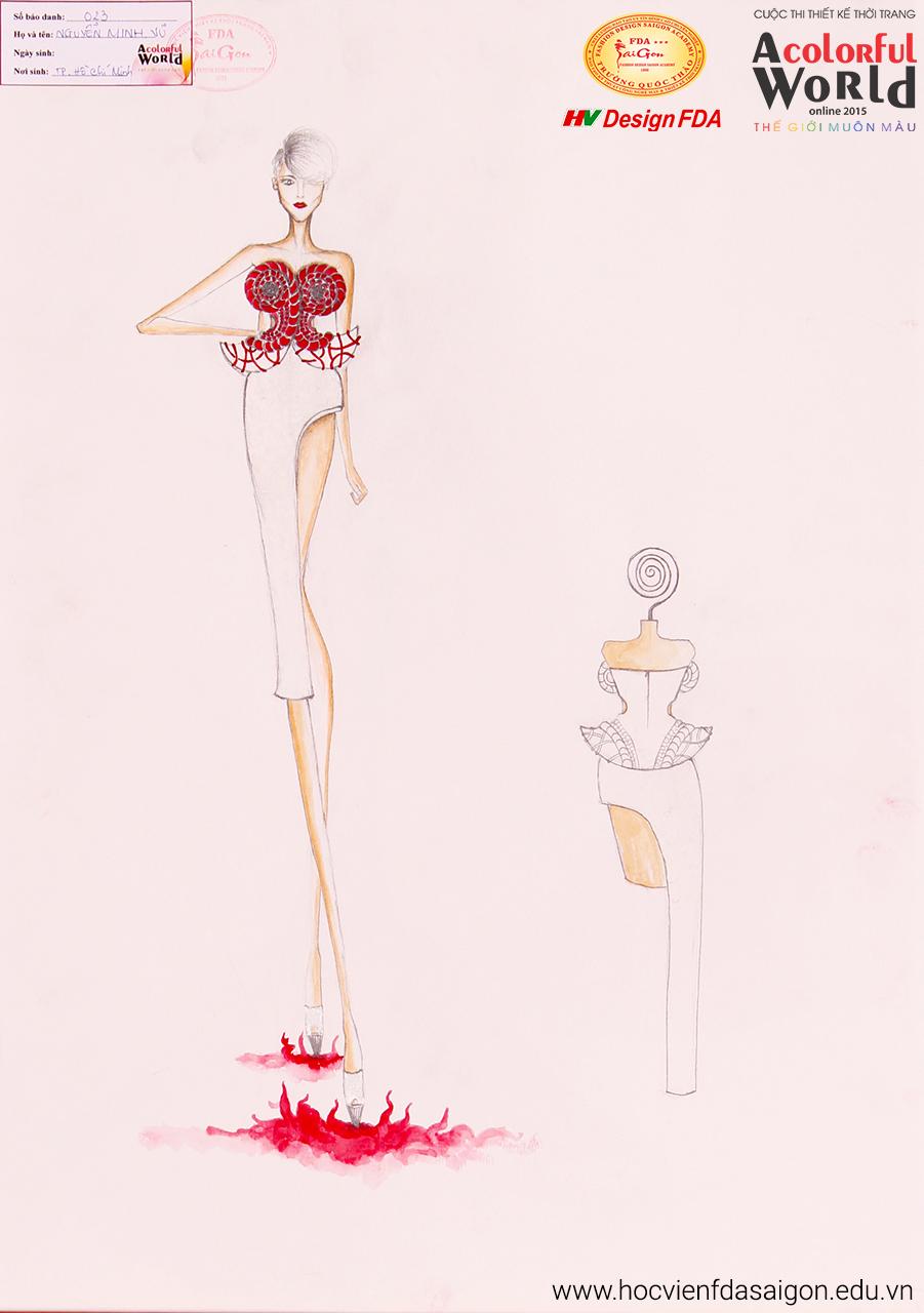 Bài thi thiết kế thời trang của Nguyễn Minh Vũ