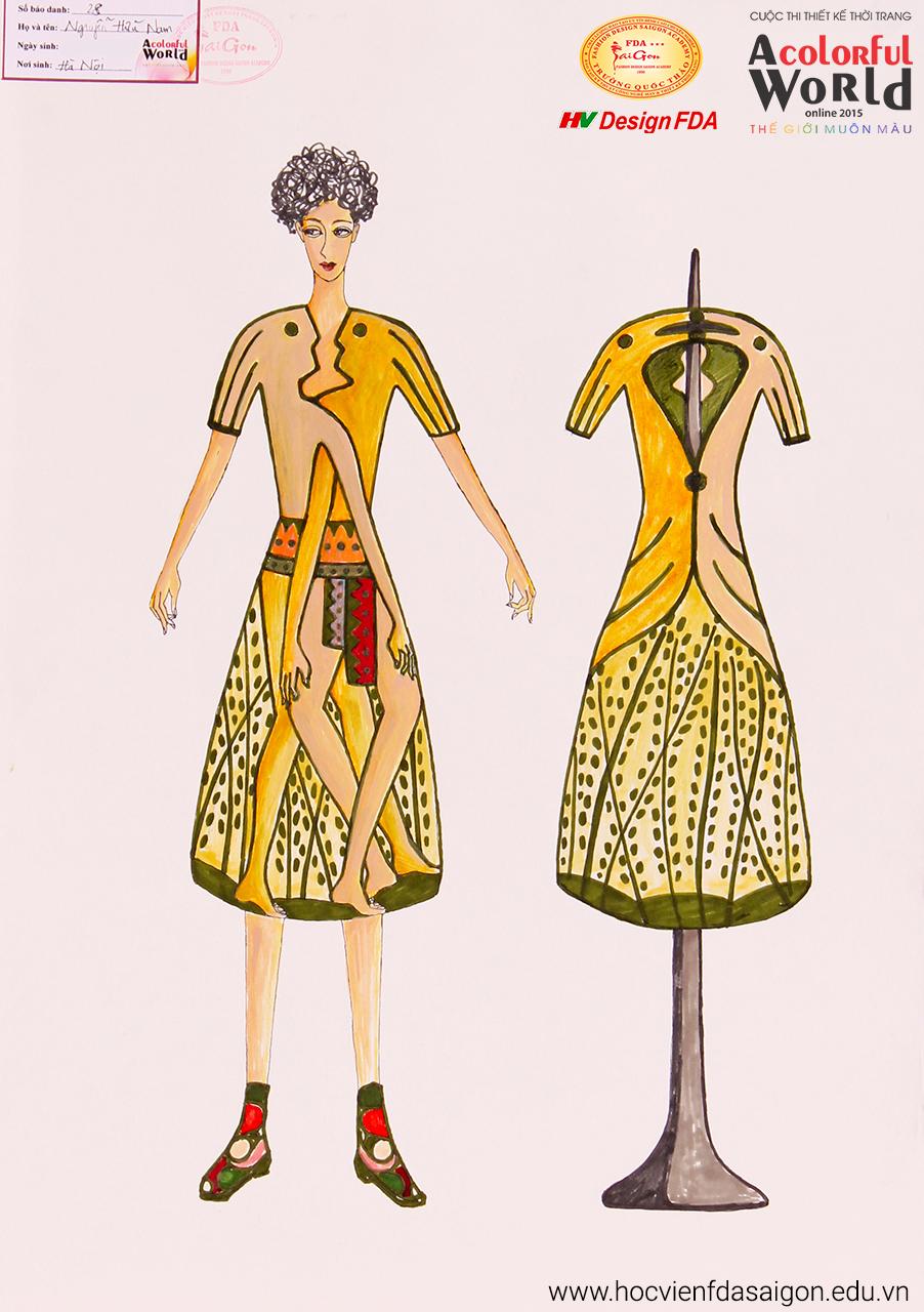 Bài thi thiết kế thời trang của Nguyễn Hữu Nam