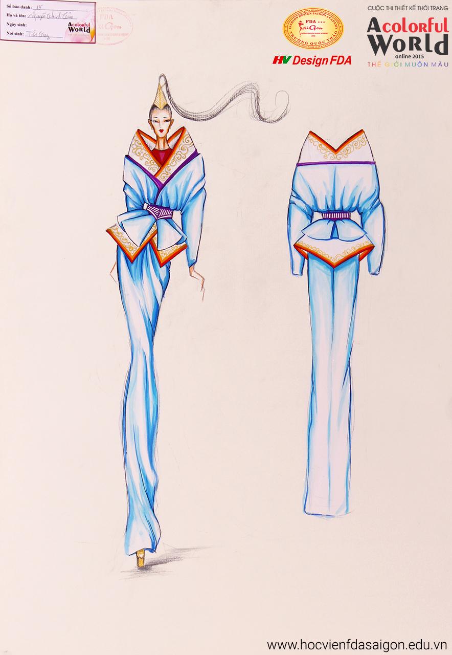 Bài thi thiết kế thời trang của Nguyễn Thanh Tâm