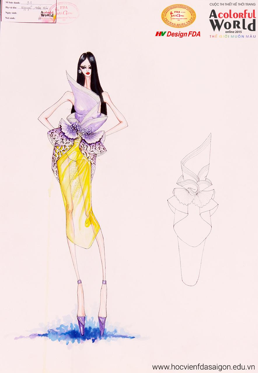 Bài thi thiết kế thời trang của Nguyễn Tuấn Hải đạt giải Nhất vòng chung kết