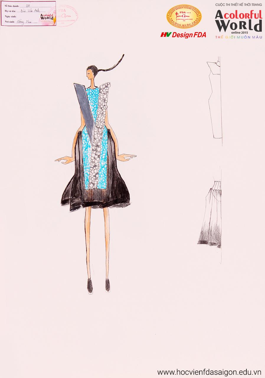 Bài thi thiết kế thời trang của Bùi Vân Anh